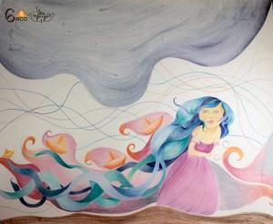 Colores grafito sobre papel sintético