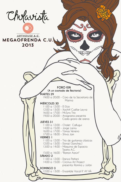 Chulavista en la Megaofrenda UNAM 2013