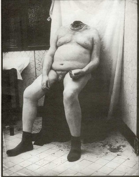 Joel Peter Witkin, Hombre sin cabeza, 1993.