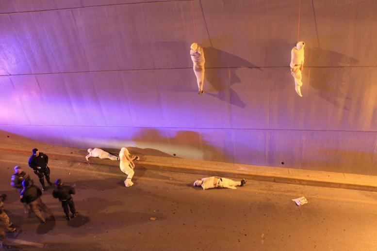 Víctimas del crimen organizado. Fotografía tomada en Saltillo Coahuila por Christopher Vanegas, ganador en World Press Photo 2014.